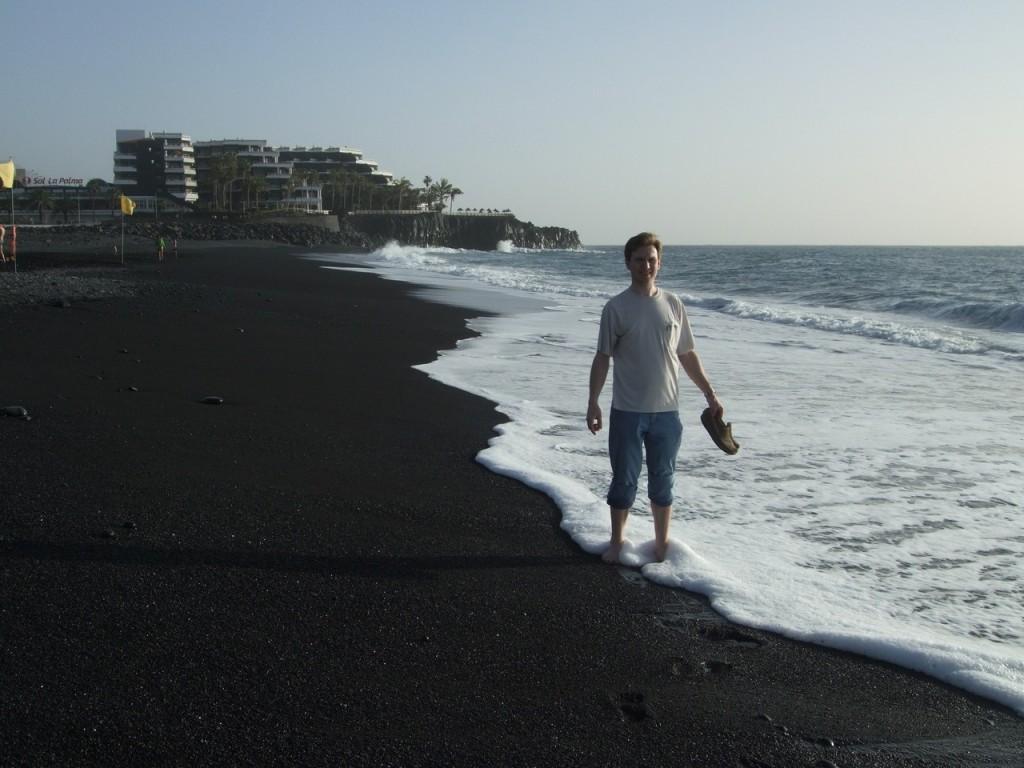 На пляже в Пуэрто Наос