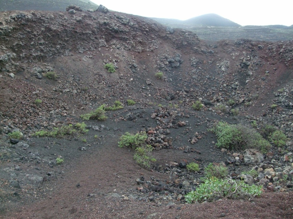 Кратер небольшого вулкана
